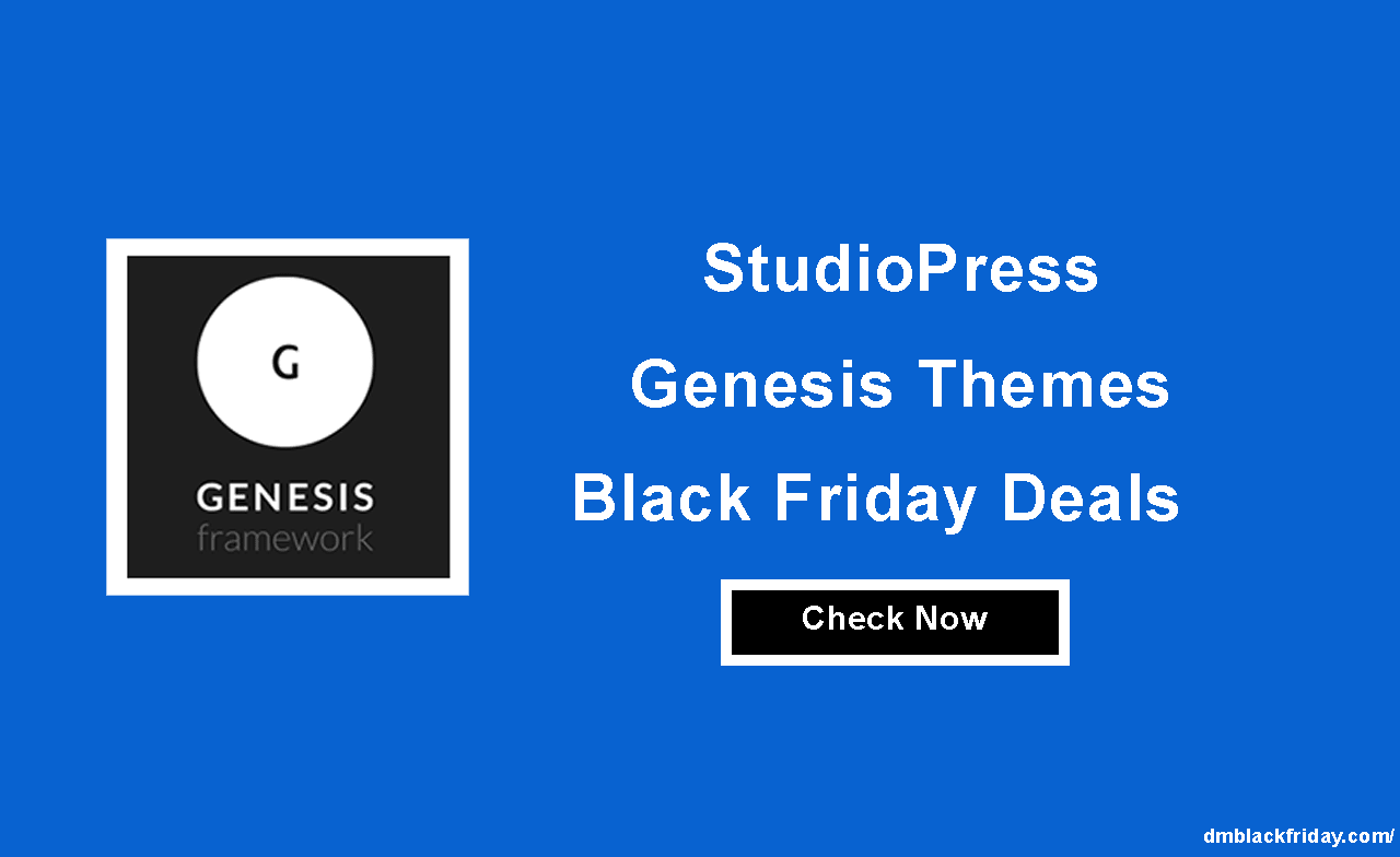 Studiopress genesis Black Friday
